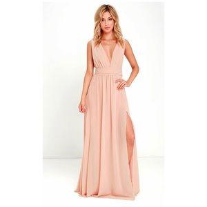 Heavenly Hues Blush Maxi Dress